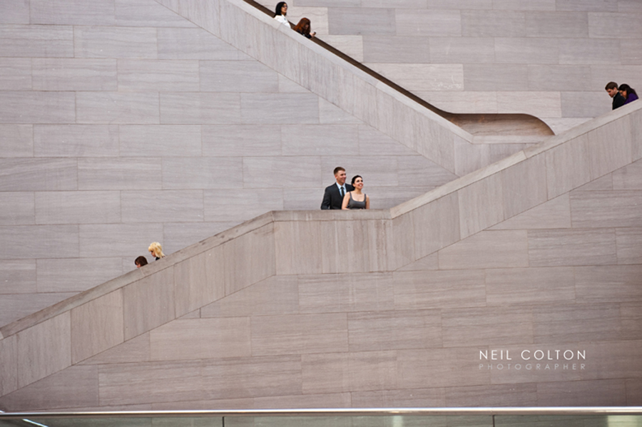 portrait of an engaged couple in Washington DC